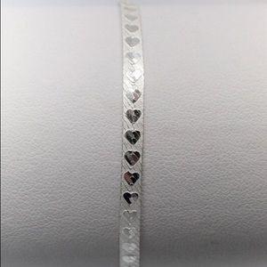 Jewelry - Sterling Heart Pattern Herringbone Bracelet 2.9g